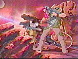 Throttle and Carbine fighting on Mars